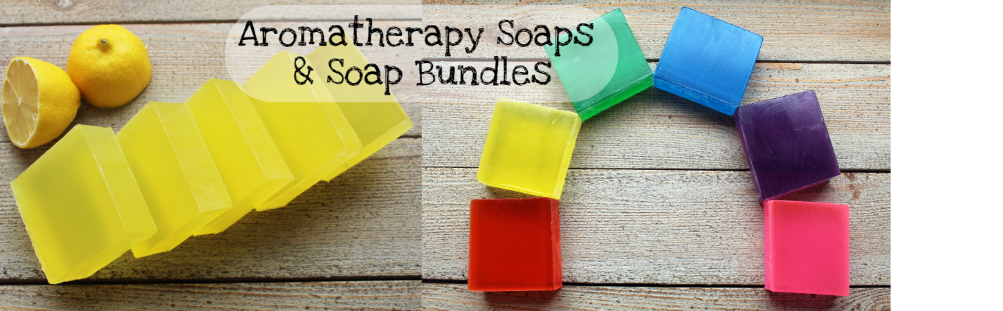 A range of Aromatherapy Soaps made with pure essential oils