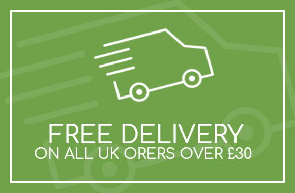 Spend over £30 and receive free delivery! (UK only)